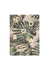 postcard - hooray (palm leaves)