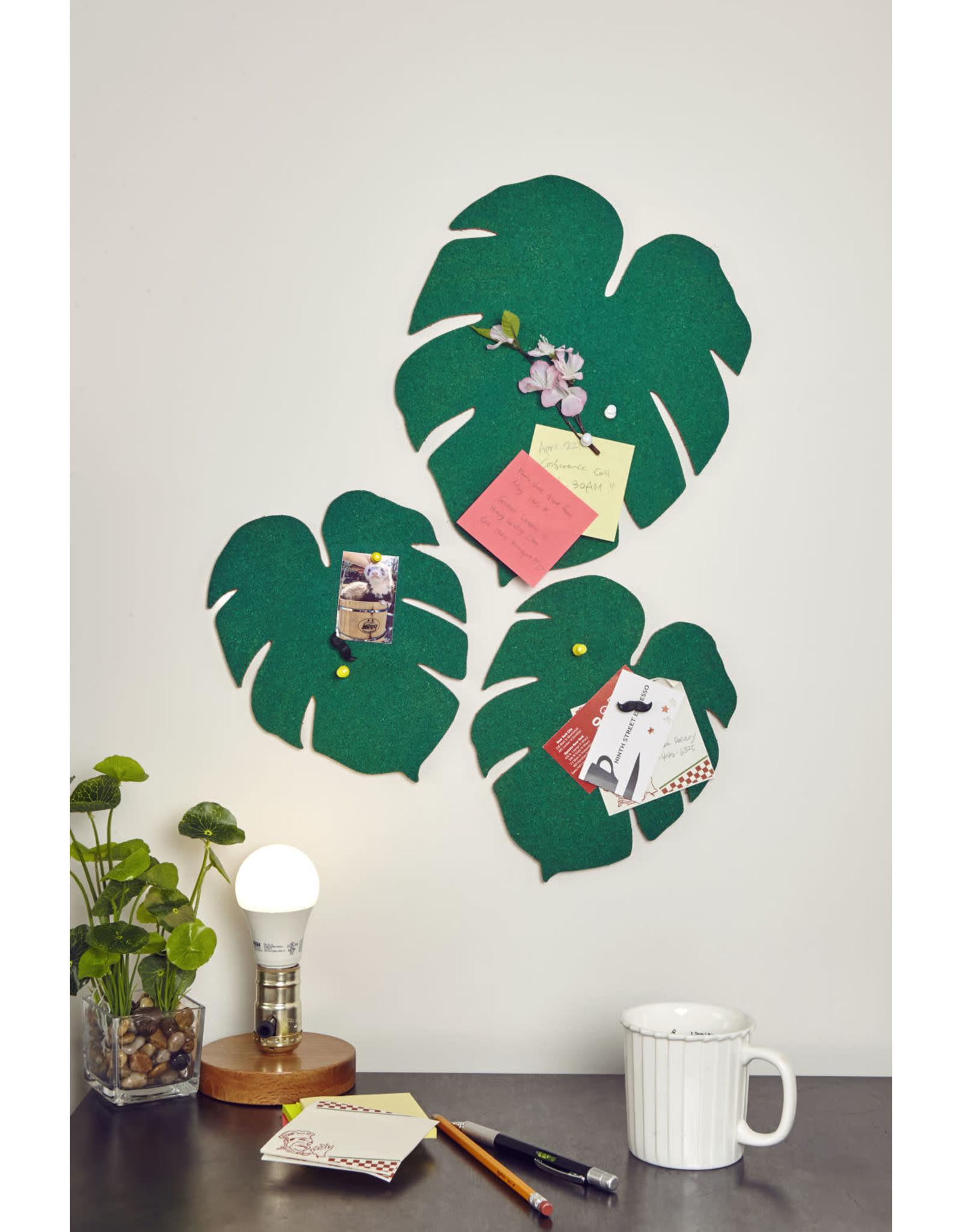 bulletin board - monstera leaf
