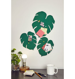 bulletin board - monstera leaf