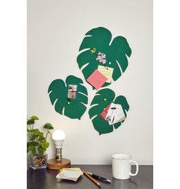 Kikkerland bulletin board - monstera leaf