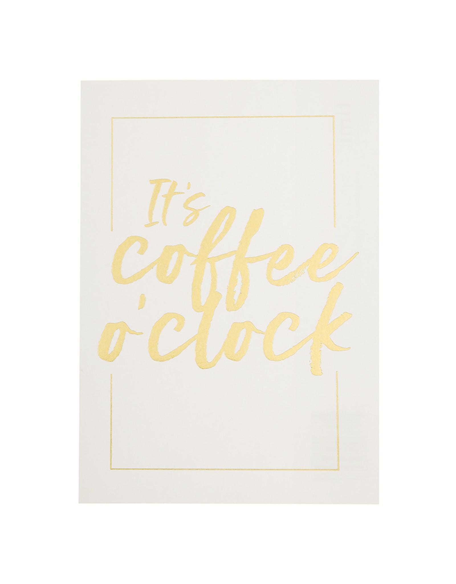 postcard - coffee o'clock