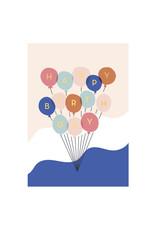 Timi postcard - happy birthday (balloons)