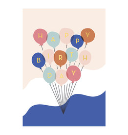 Timi postcard - happy birthday (balloons) (12)
