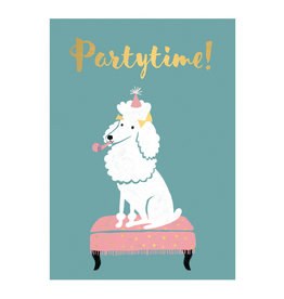 Timi postcard - partytime (dog)