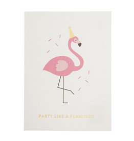Timi postcard - party like a flamingo