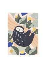 Timi postcard - sloth
