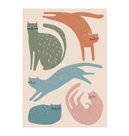 Timi postcard - cats