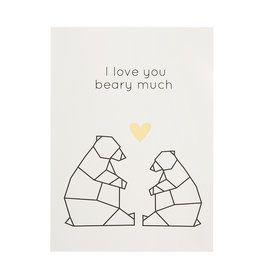 Timi postcard - I love you beary much