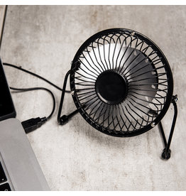 Kikkerland ventilator bureau - USB (zwart)