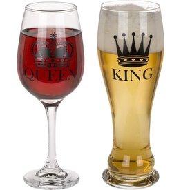 glazen - king & queen