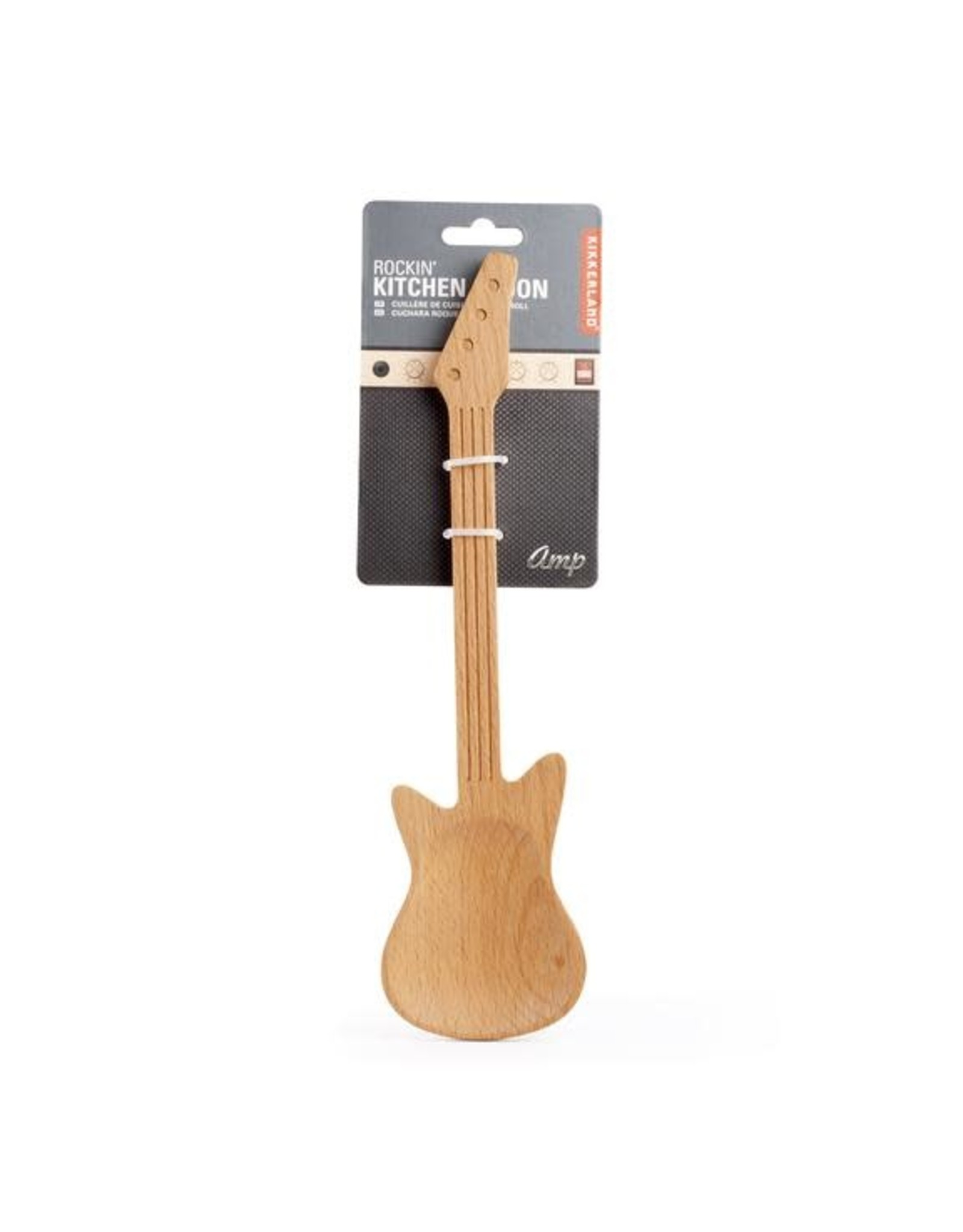 wooden ladle in the shape of a guitar