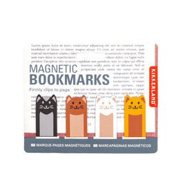 Kikkerland magnetic bookmark - cats