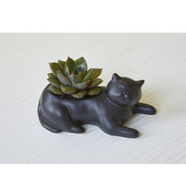 Kikkerland planter - black cat