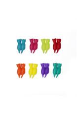 glass markers - rainbow cat