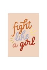 Timi postcard - fight like a girl