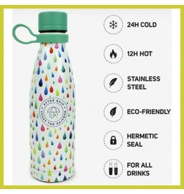 Legami 500ml hot & cold drinkfles - raindrops