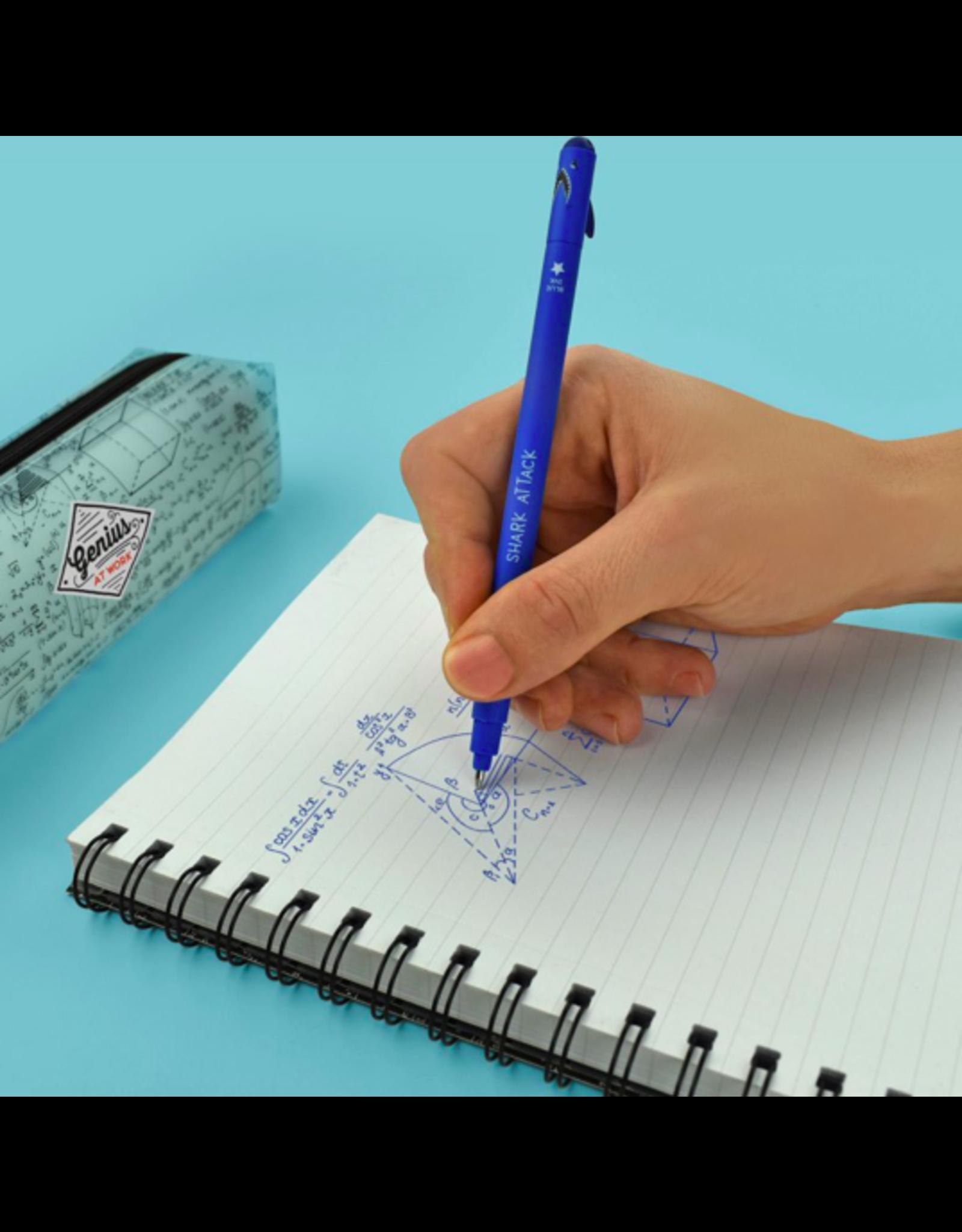 Legami erasable pen - shark (blue ink)