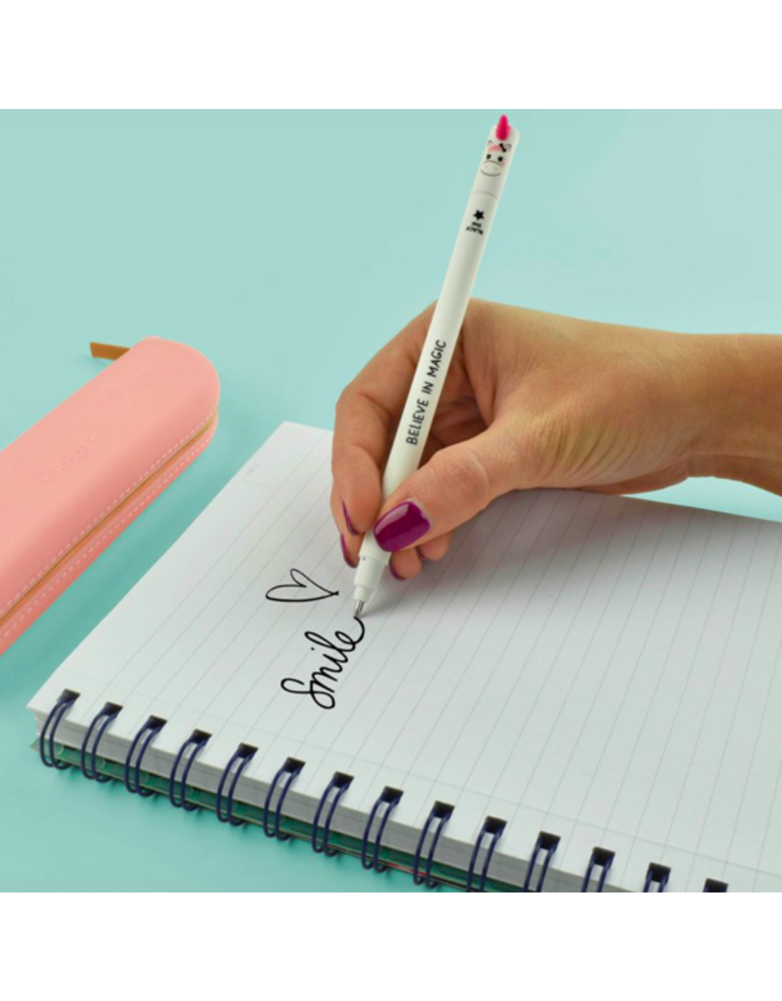 Legami erasable pen - unicorn (black ink)
