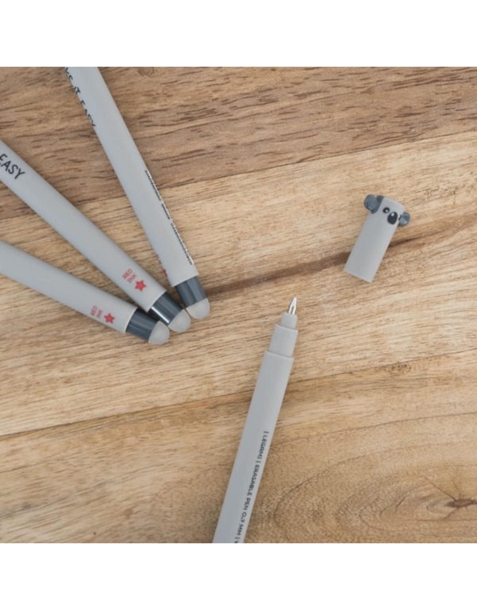 Legami erasable pen shaped like a koala
