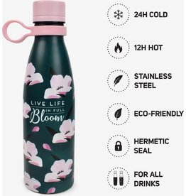 Legami 500ml hot & cold drinking bottle - bloom