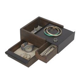 Umbra jewelry box - stowit (black/walnut)
