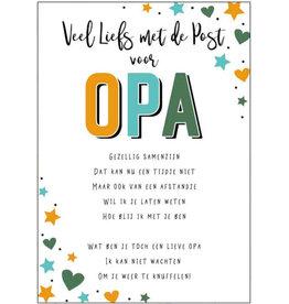 Artige Quarantaine kaart - veel liefs met de post voor opa