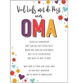 Artige Quarantaine kaart - veel liefs met de post voor Oma