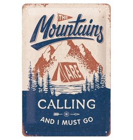 sign - 20x30 - Mountains are calling