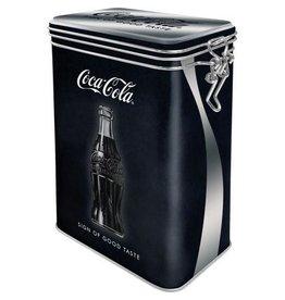 bewaardoos met clip - cola