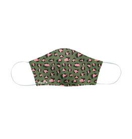 Fisura reusable face mask - cheetah (green & pink)