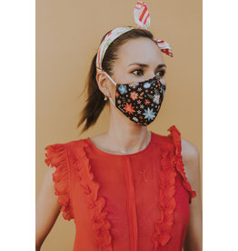 Fisura reusable face mask - adult - embroided flowers