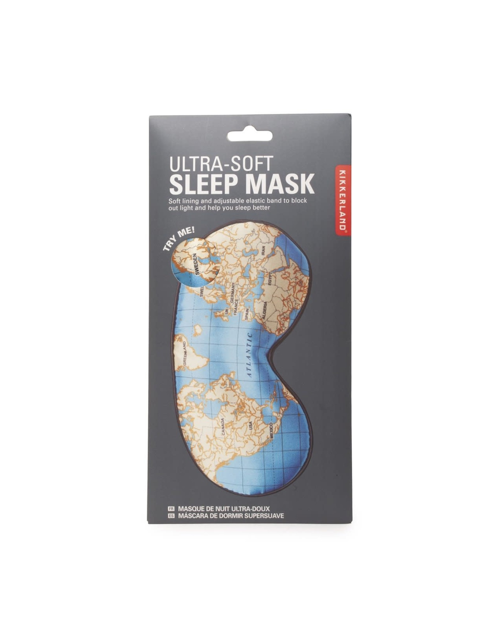 eye mask - map
