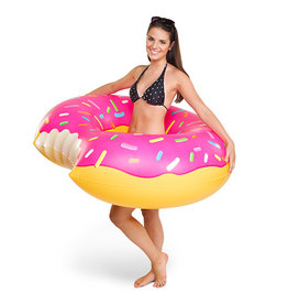 pool float - giant frosted strawberry donut