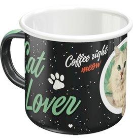 Nostalgic Art enamel mug - cat