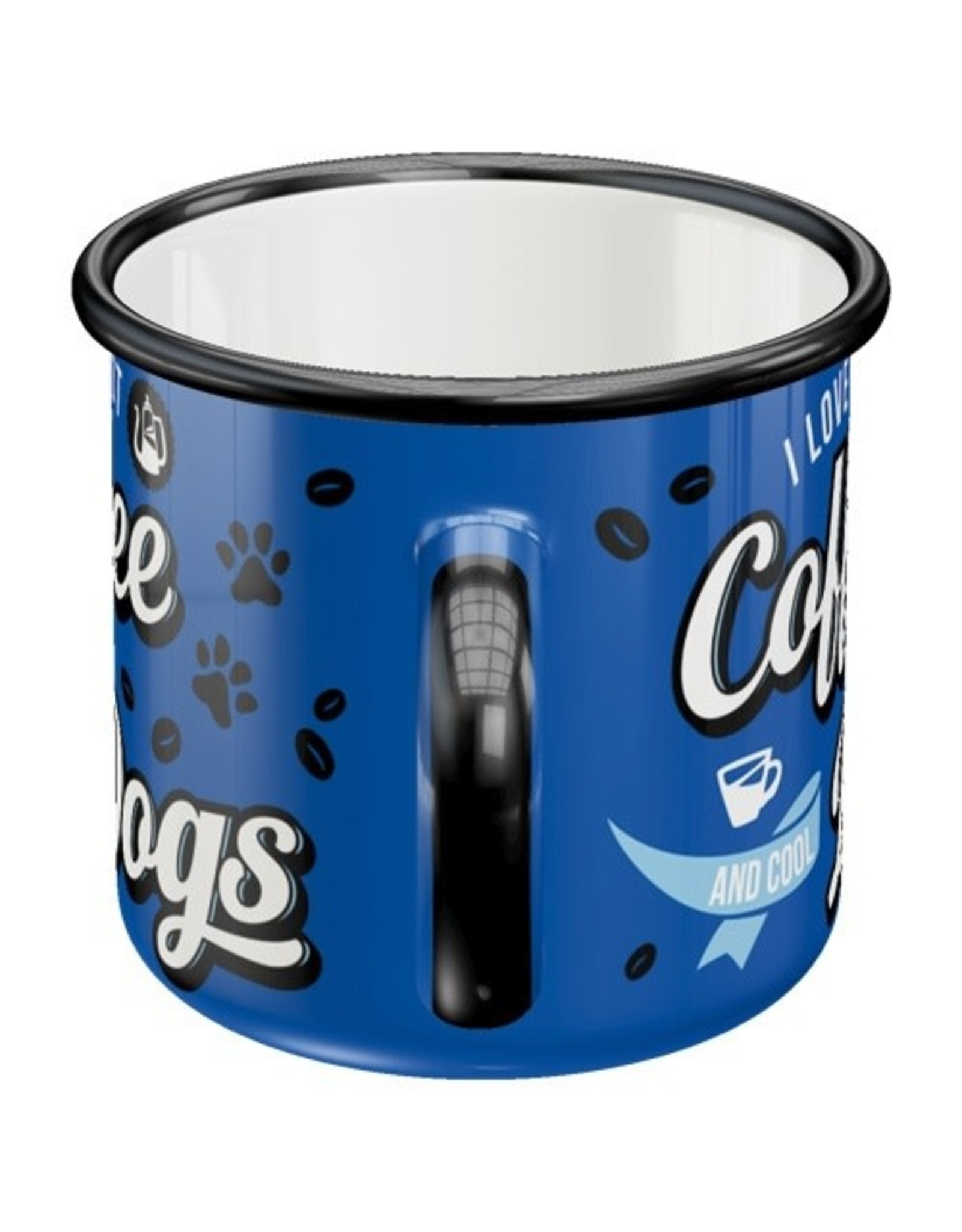 Nostalgic Art enamel mug - coffee & dogs