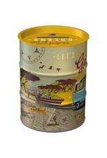 Nostalgic Art moneybox -  oil barrel - let's get lost