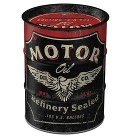 moneybox - oil barrel - motor oil