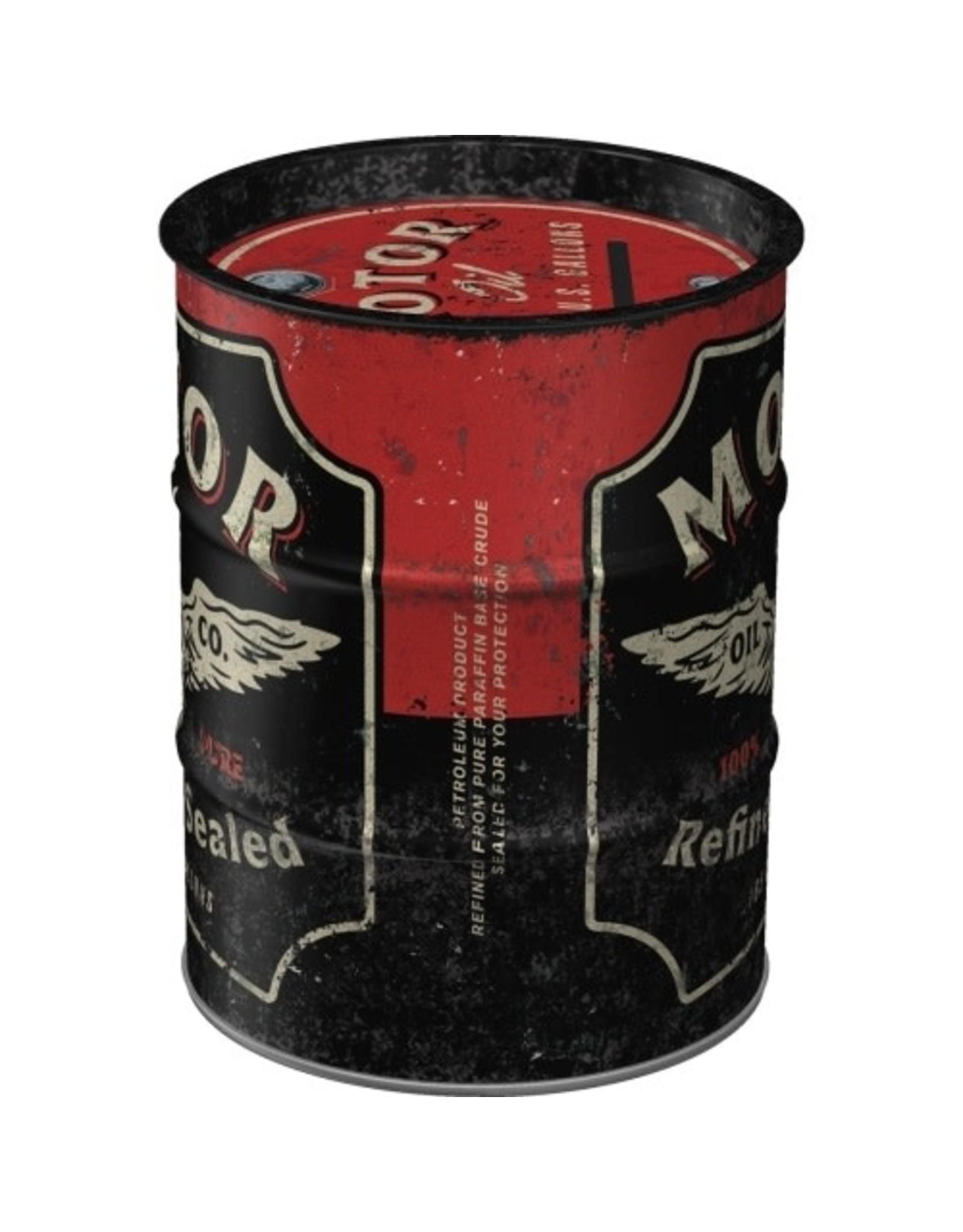 Nostalgic Art moneybox - oil barrel - motor oil