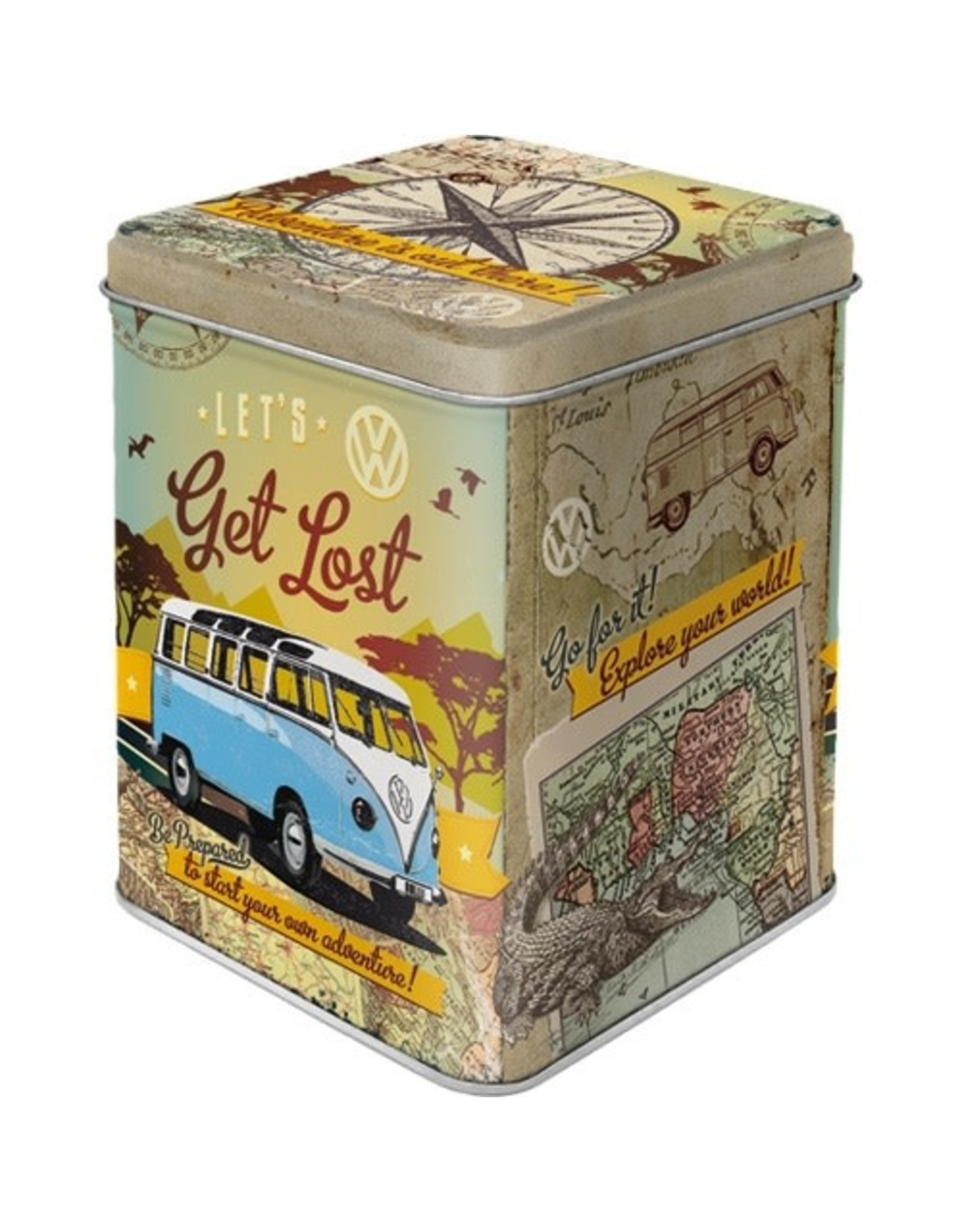 Nostalgic Art tea box - let's get lost