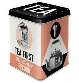Nostalgic Art bewaardoos - tea first