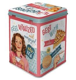 Nostalgic Art tea box - tealicious & tearific