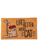 deurmat kat - life is better with a cat