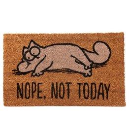 doormat cat - nope, not today