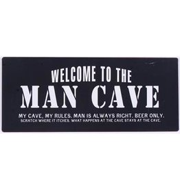 metal sign - S - welcome to the man cave