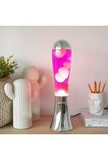lava lamp - silver base/pink lava