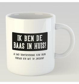 Jelly Jazz mug - ik ben de baas in huis