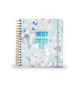 diary 2020/21 - 18 months - twenty twenty one/flowers