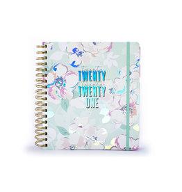 Tri Coastal diary 2020/21 - 18 months - twenty twenty one/flowers