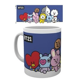 Hole In The Wall mok - BT21 - group (blue)