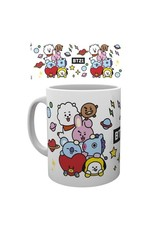 Hole In The Wall mug - BT21 - group (white)